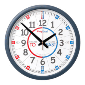 EasyRead Time Teacher Past & To Playground Wall Clock